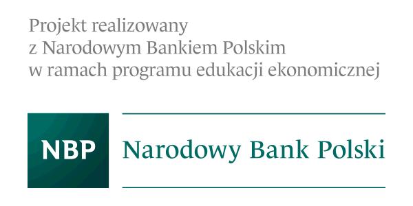 Projekt realizowany z Narodowym Bankiem Polskim w ramach programu edukacji ekonomicznej - Logo NBP