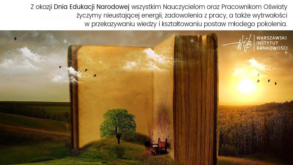 Dzień Edukacji Narodowej 2021 - DEN 2021 - Życzenia od WIB - Warszawski Instytut Bankowości